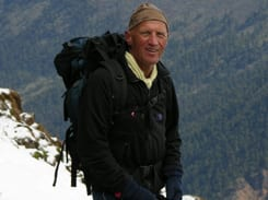 Tony Mackrill – aged 70 – on top of the world!